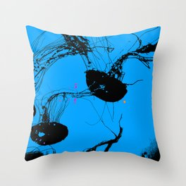 Jellyfish - Marine Animals Throw Pillow