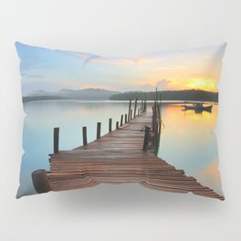 Pier on the Water at Sunset  Pillow Sham