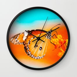 Current Mood by Kooky Collages Wall Clock