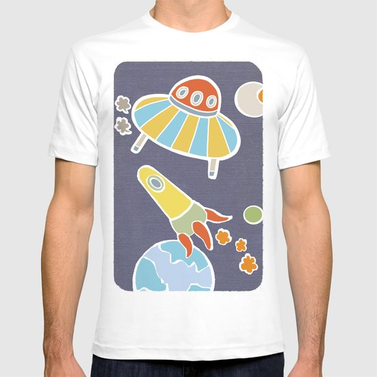 space flying T-shirt