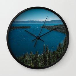 Lake Tahoe V Wall Clock