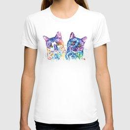 2 Kitties Hanging Out T-shirt