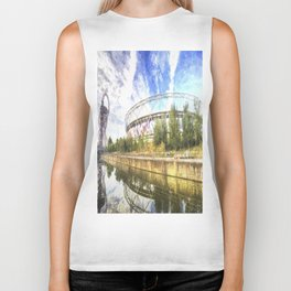 West Ham Olympic Stadium And The Arcelormittal Orbit Art Biker Tank