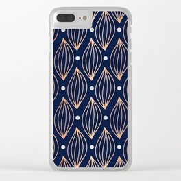 COPPER WAVE - NAVY BLUE Clear iPhone Case