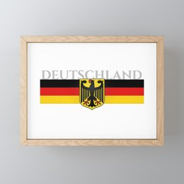 Deutschland ...German Flag and Eagle Framed Mini Art Print