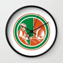 Baker Peel Bread Pan Circle Retro Wall Clock