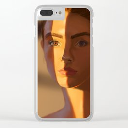 Orange Stripe Clear iPhone Case