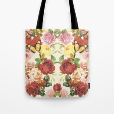 Vintage flowers illustration Tote Bag