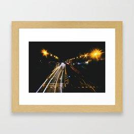 madrid likes night Framed Art Print