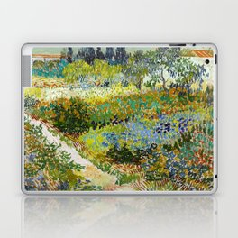 1888-Vincent van Gogh-Garden at Arles, Flowering Garden with Path-88x102 Laptop & iPad Skin