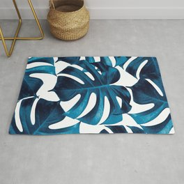 Tropical Monstera Leaves Dream #8 #tropical #decor #art #society6 Rug