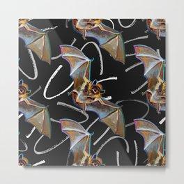 Fun Gothic Bat Pattern Metal Print