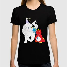 g1 my little pony princess tiffany and fiery the dragon T-shirt