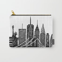 Linocut New York Carry-All Pouch