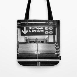 Downtown New York City Subway Tote Bag