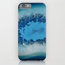 Agate Crystal Blue iPhone Case