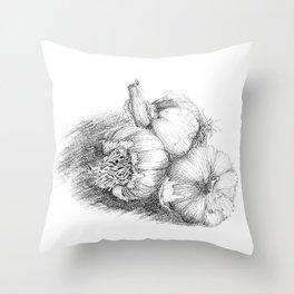 Just Add a Clove of Garlic Throw Pillow