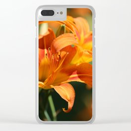 Day Lily Dance Clear iPhone Case