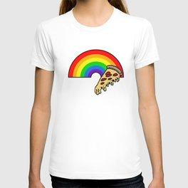 pizza rainbow T-shirt