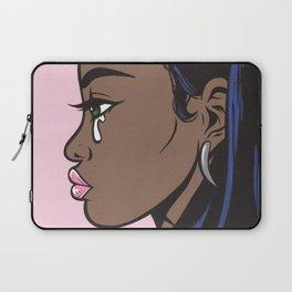 Crying Comic Black Girl Laptop Sleeve