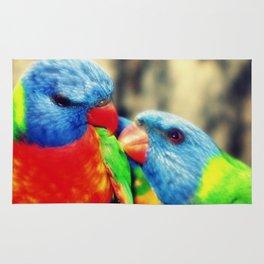 Rainbow Lorikeets Rug