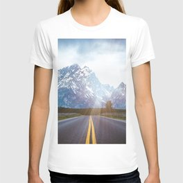 Mountain Road - Grand Tetons Nature Landscape Photography T-shirt