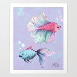 Bubble Fish Art Print