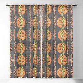 Pumpkin 04 Sheer Curtain