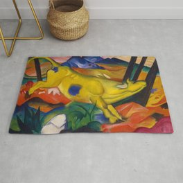 'Yellow Cow in the Valley of Purple Mountains' by Franz Marc Rug