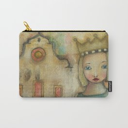 Pretty girl in Santo Spirito Florence Carry-All Pouch