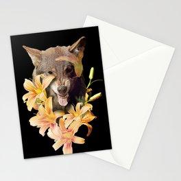 Wolfish flowers Stationery Cards