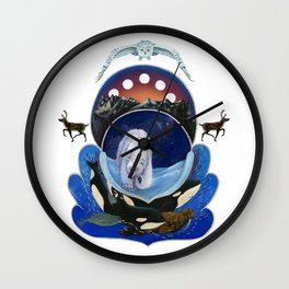Animals of the Midnight Sun Wall Clock