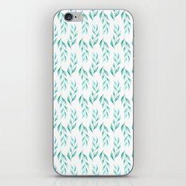 Watercolor Tenderness Greenery Seamless Pattern iPhone Skin