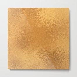 Simply Metallic in Bronze Metal Print