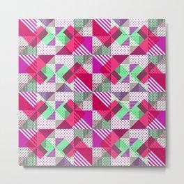 Geometric Polka Dots Petit Pois Neon Metal Print