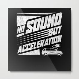 Electric Car Metal Print