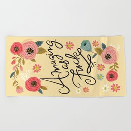 Pretty Swe*ry: Amazing as F Beach Towel