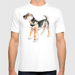Airedale Terrier Watercolor #2 T-shirt