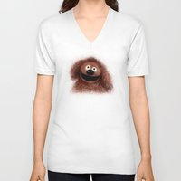 muppets V-neck T-shirts featuring Rowlf, The Muppets by KitschyPopShop