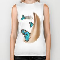 the shining Biker Tanks featuring Shining Life by Nadine May