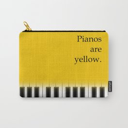 Pianos are yellow - poster design for music lover Carry-All Pouch
