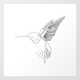 """Animals Collection"" - Humming bird Art Print"