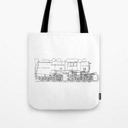 Sketchy train art Tote Bag