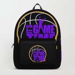 It's Game Time - Purple & Gold Backpack