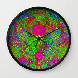 The Twirling Light of My Mind Wall Clock