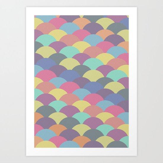 Circles Abstract 3 Art Print