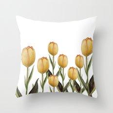 Tulip watercolor  Throw Pillow