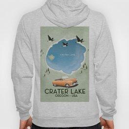 Crater Lake Oregon Travel Poster Hoody
