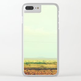 Astract Modern Desert Photograhy Clear iPhone Case