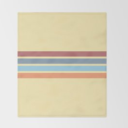 Retro Stripes 14 Throw Blanket
